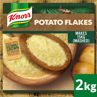 Knorr Potato Flakes 2kg - New Knorr Potato Flakes - real potatoes, sustainably grown, harvested, dried and flaked to give you a versatile quality potato base