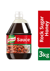 KNORR Rock Sugar Honey Sauce 3kg - Knorr Rock Sugar Honey Sauce consistently delivers superior coating with a long lasting sheen.