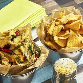"""Assorted """"Chips"""" with Salted Egg Sprinkles"""