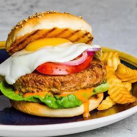 Hamburger with Thousand Island Dressing