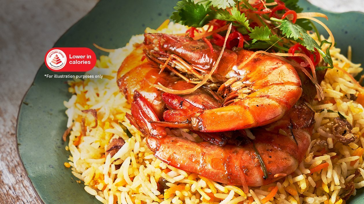 Aromatic Pilaf Rice with Medley Spice Prawns