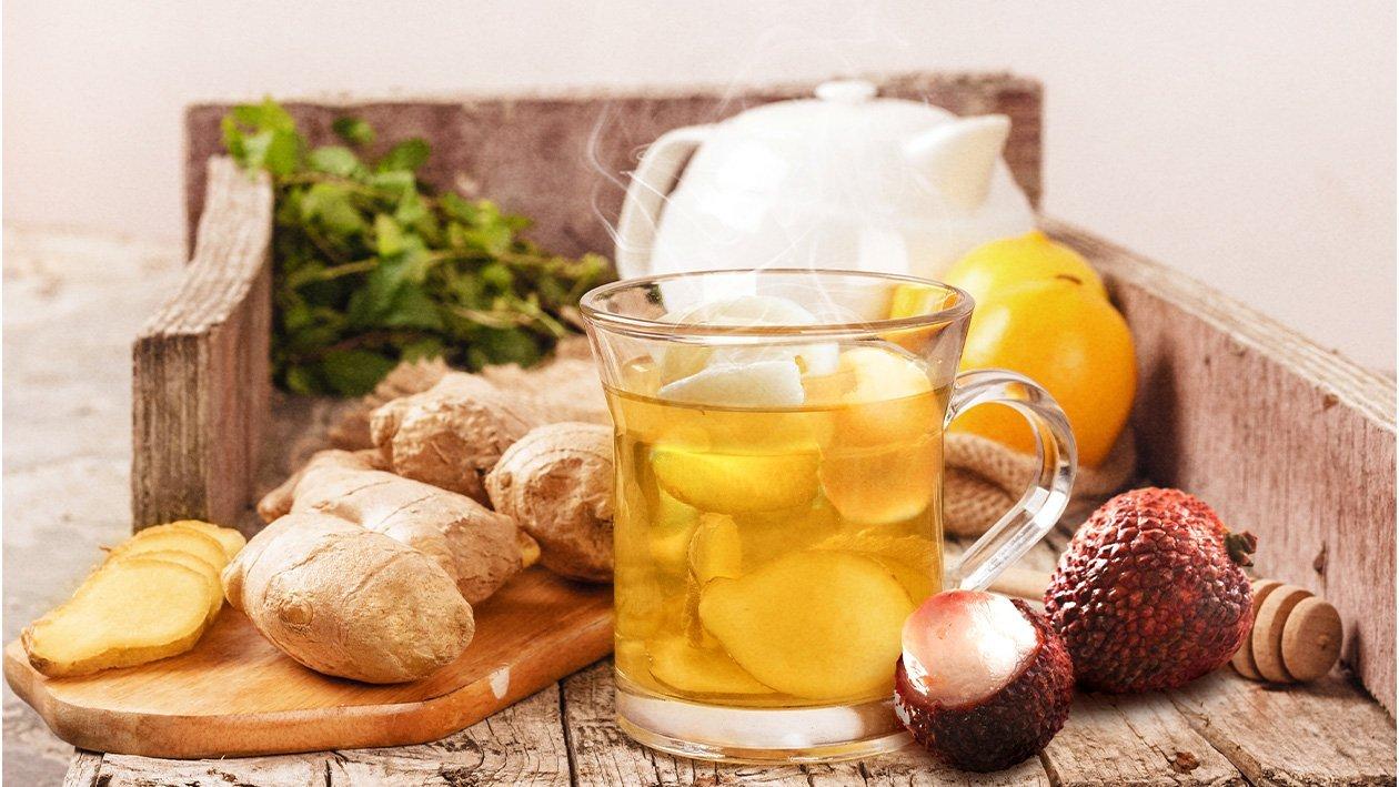 Hot Lychee Ginger Tea
