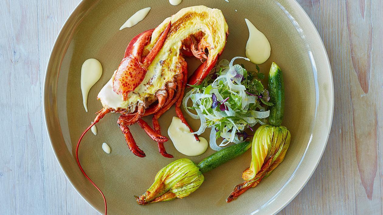 Lobster Gratin Hollandaise