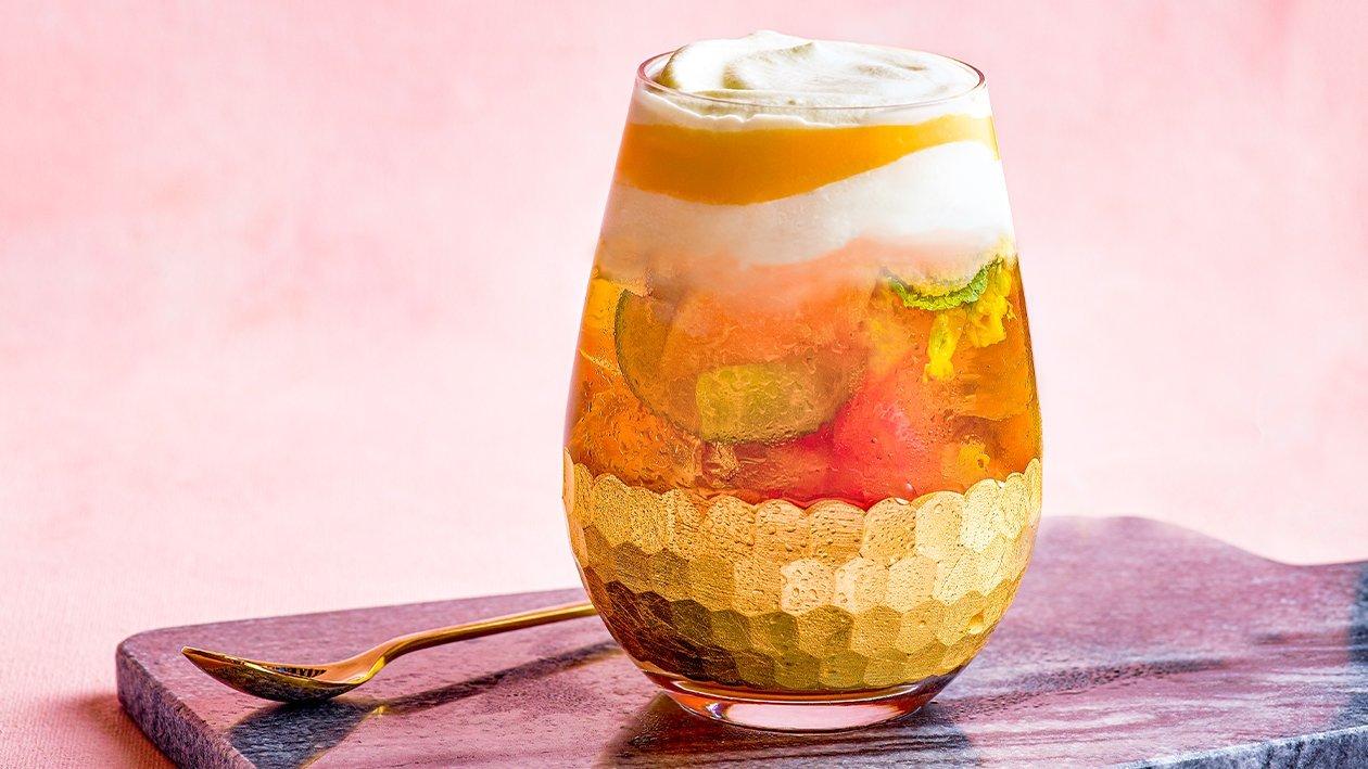 Peach Tea with Cheesy Milk Cap