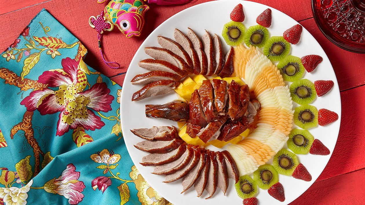 Roasted Duck with Fresh Fruits