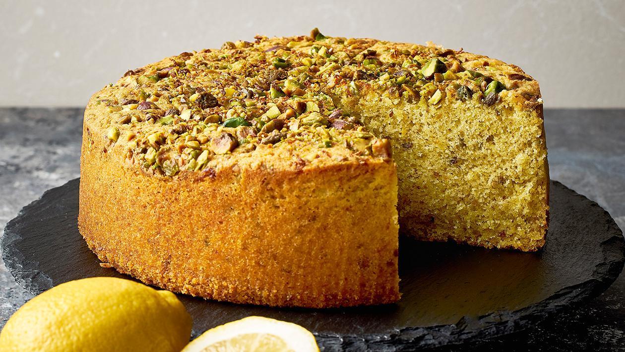 Roasted Pistachio Lemon Cake