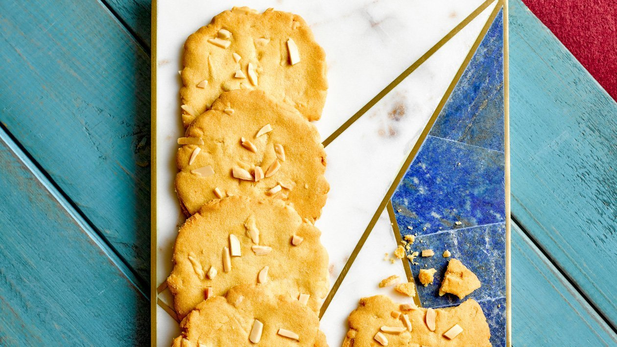 Salted Egg Almond Cookies
