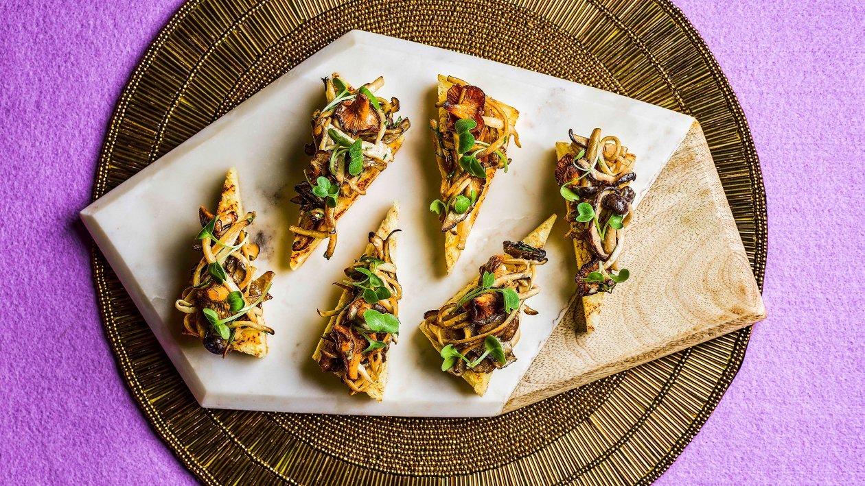Sautéed Pine Mushroom Crostini