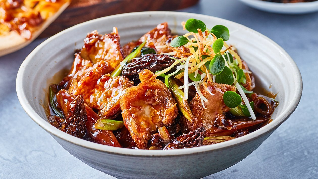 Sesame NoChicken Stew with Morel Mushroom
