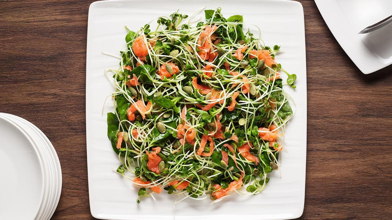 Smoked Salmon Salad with Yuzu Dressing