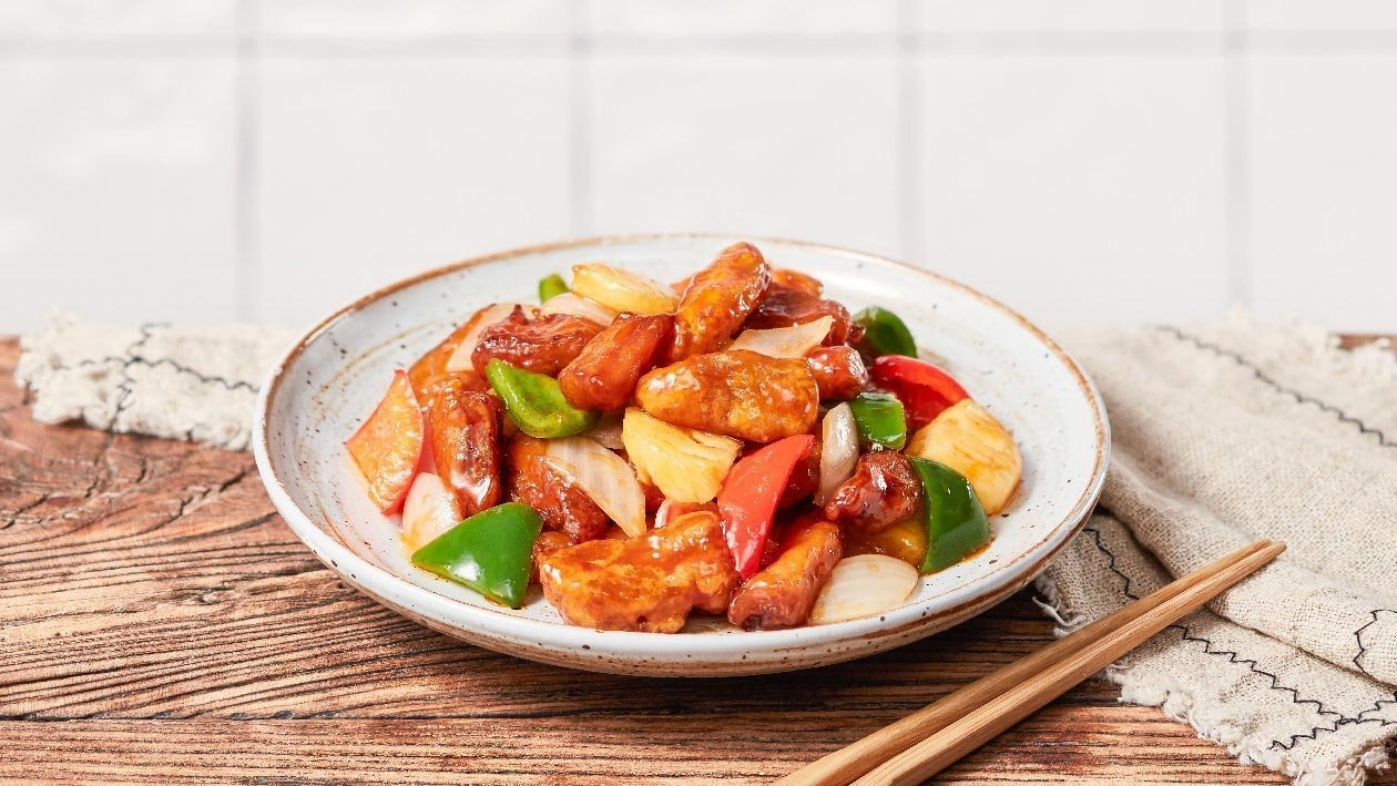 Sweet and Sour NoChicken Chunks