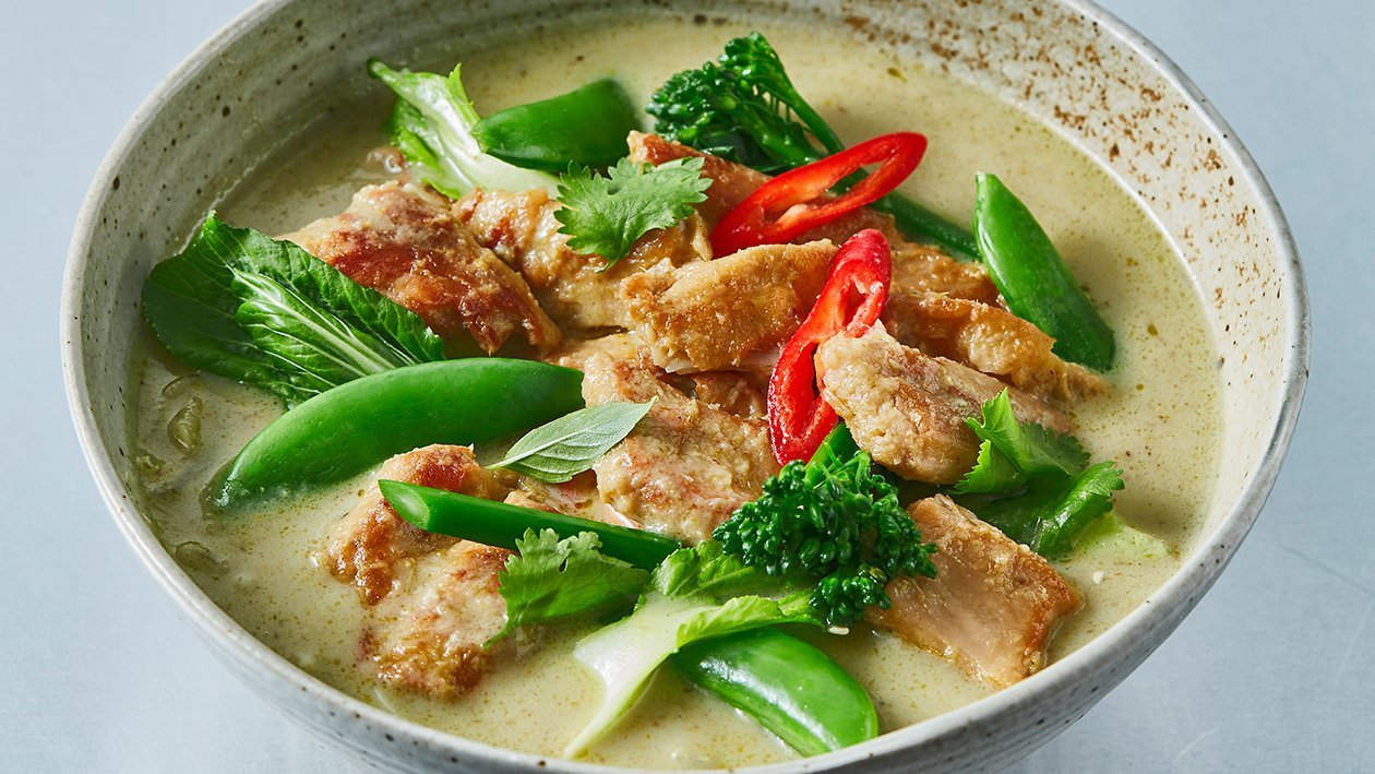 Thai Green Curry NoChicken Chunks