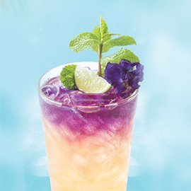 Butterfly Pea, Honey and Lime Tea