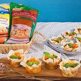 Crispy Basket with Seafood Pizza Sauce