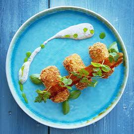 Croquettes with Mozzarella and Ham