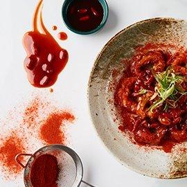 Fried Calamari with Goji Berry Sauce