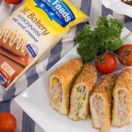 Fried Sandwich with Tuna Salad