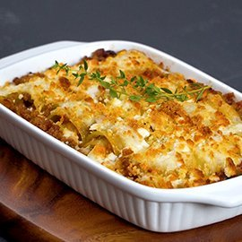 Minced Beef, Goat's Cheese and Bell Pepper Lasagna Roll Ups