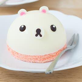 Mini bear mousse cake