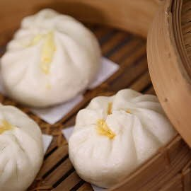 Steamed Chinese Bun with Pizza Minced Pork