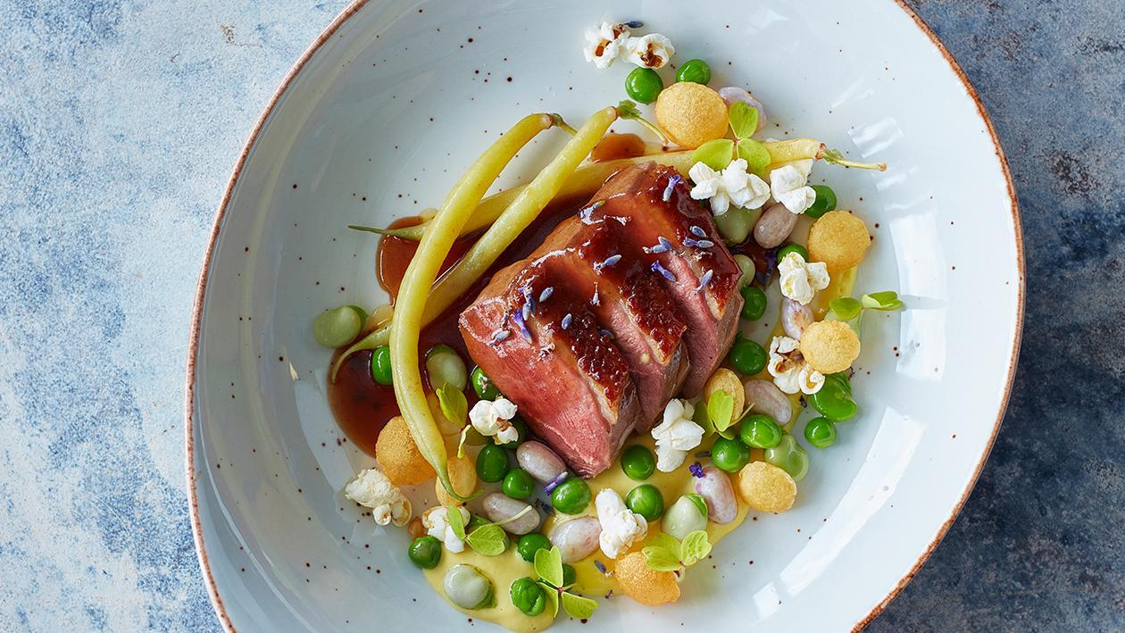 Glazed Duck with Honey and Lavender