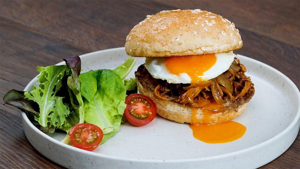 Pulled Bulgogi Chicken Burger