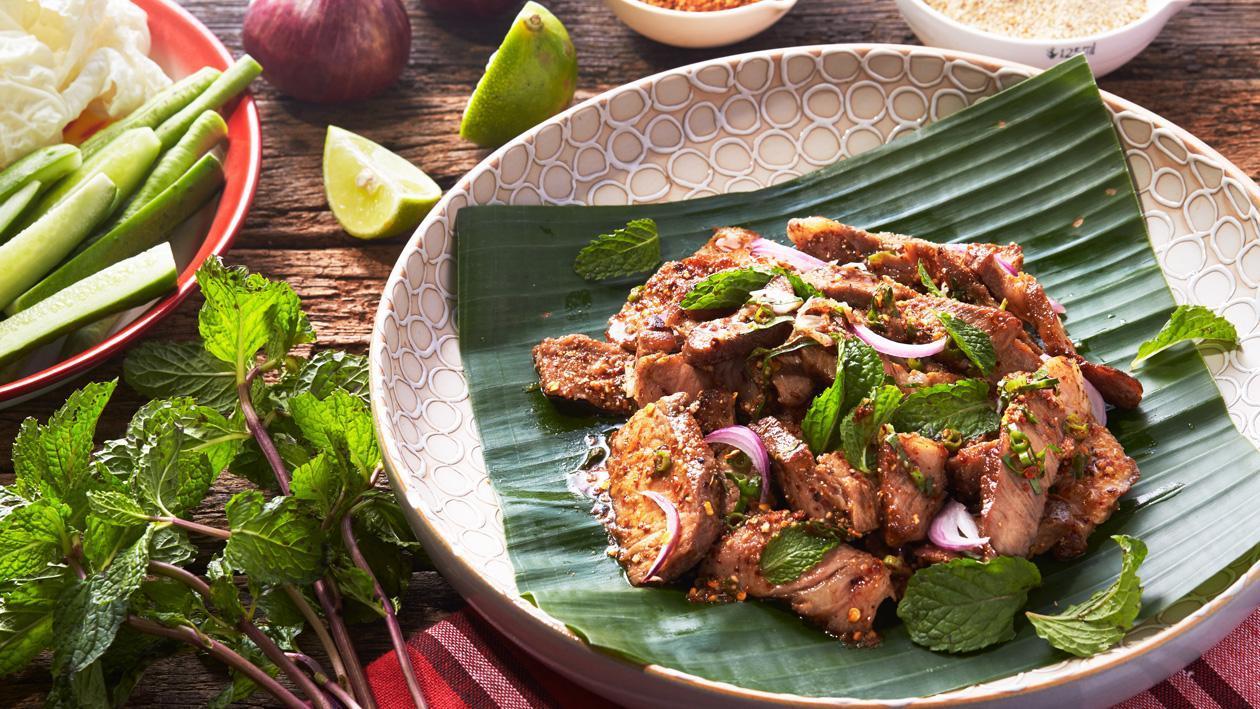 Spicy Roast Pork Salad