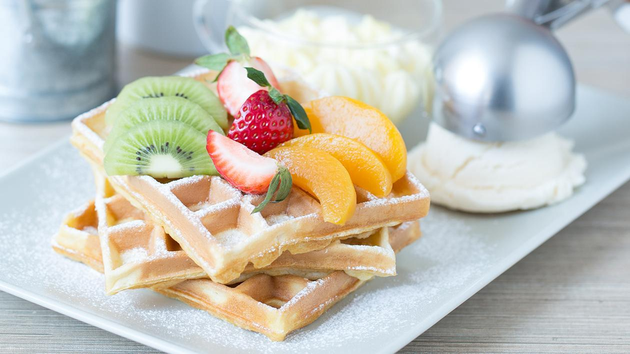 Warm Café-Style Waffle