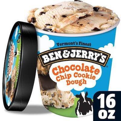 Ben & Jerry's Chocolate Chip Cookie Dough 8 x 16 oz -