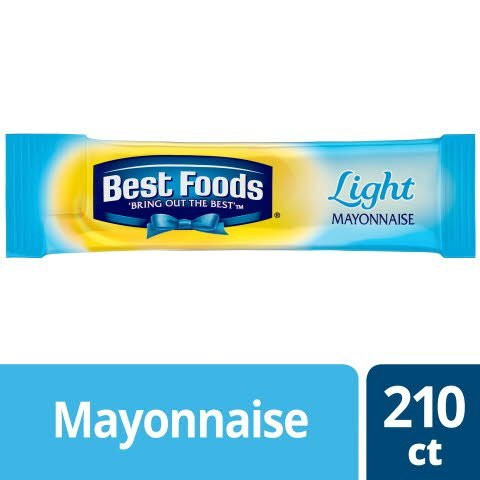 Best Foods® Mayonnaise Stick Packets Light 0.38 ounces, 210 count -