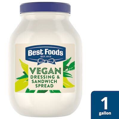 Best Foods® Vegan Mayo 1 gallon, pack of 4 -