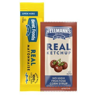 Hellmann's® /Best Foods® Mayonnaise and Ketchup Stick Packs - Made with real, simple ingredients from the brand you trust.