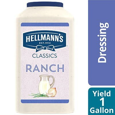 Hellmann's® Classics Salad Dressing Ranch 1 gallon, Pack of 4 -