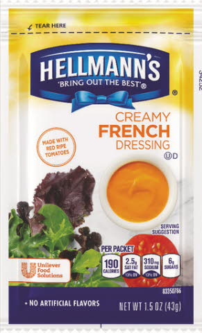 Hellmann's® Creamy French Style, pouches - 10048001198910