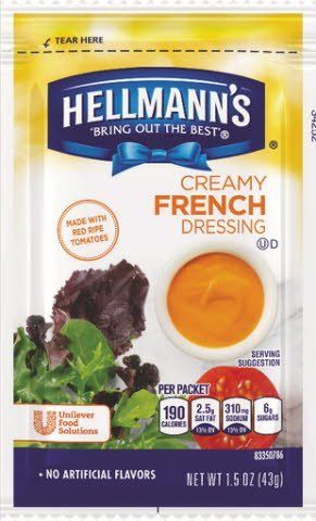 Hellmann's® Creamy French Style, pouches