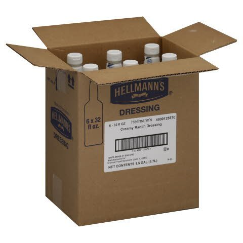 Hellmann's® Creamy Ranch, Salad Bar Bottles - 10048001256702