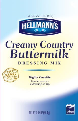 Hellmann's® Dressing Dry Mix Pouch Creamy Country Buttermilk 3.12 ounces, 18 count