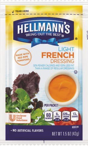 Hellmann's® Light Creamy Style French, pouches