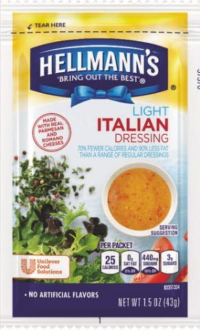 Hellmann's® Light Italian, pouches