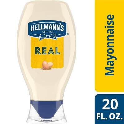 Hellmann's® Mayonnaise Squeeze Bottle Real 20 ounces, 12 count
