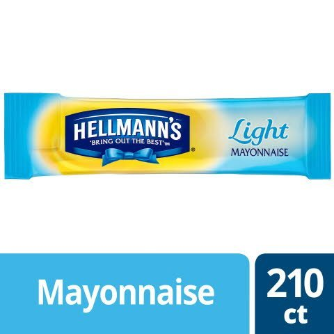 Hellmann's® Mayonnaise Stick Packets Light 0.38 ounces, 210 count