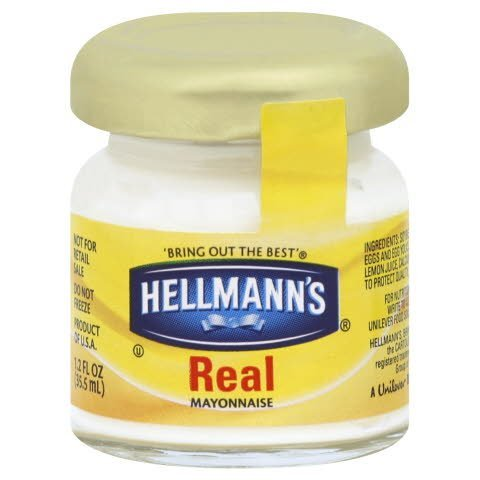 Hellmann's® Real Mayo Room Service Jar, 1.2 oz, Pack of 72 -