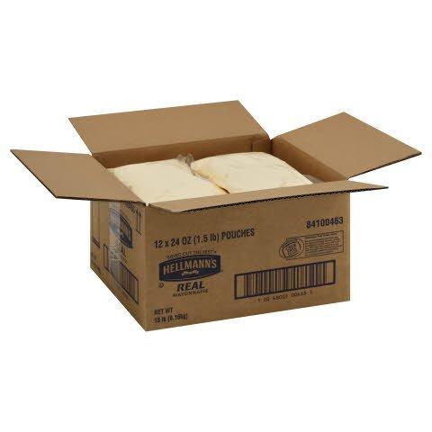 Hellmann's® Real Mayonnaise Pouch 12 x 24 oz -