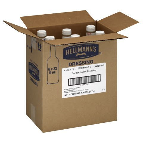 Hellmann's®  Salad Bar Bottle Golden Italian Dressing 32 ounces 6 count