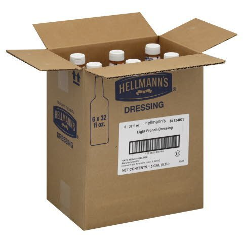 Hellmann's® Salad Bar Bottle Light French 32 ounces, 6 count