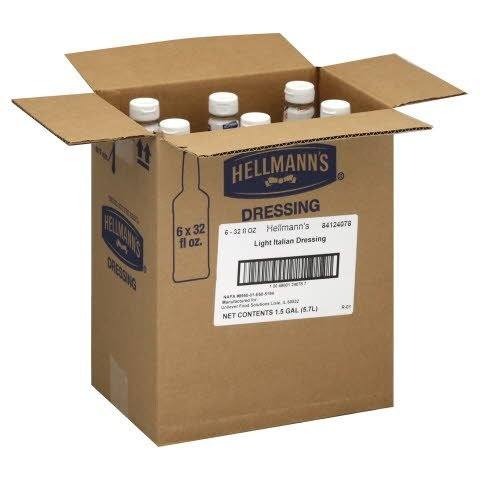 Hellmann's® Salad Bar Bottle Light Italian 32 ounces, 6 count