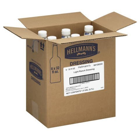 Hellmann's® Salad Bar Bottle Light Ranch Dressing 32 ounces, 6 count