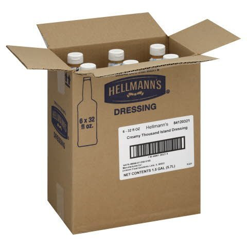 Hellmann's® Salad Bar Bottle Thousand Island Dressing 32 ounces 6 count