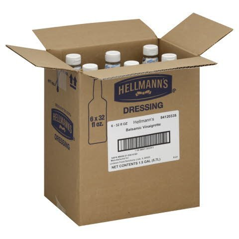 Hellmann's® Salad Bar Bottles Balsamic Vinaigrette 32 ounces, 6 count -