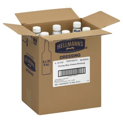 Hellmann's® Salad Bar Bottles Blue Cheese 32 ounces, 6 count -